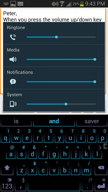 Trying to use the mute function on my Galaxy S3 but still be able to hear audible texts?-uploadfromtaptalk1368679415597.jpg