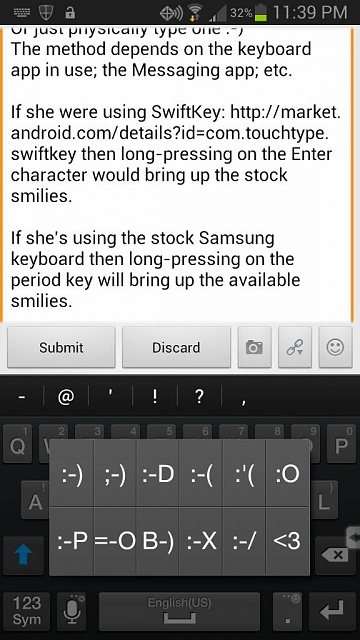 Forgive my stupidity but can you use smileys on the S3-uploadfromtaptalk1378535973661.jpg