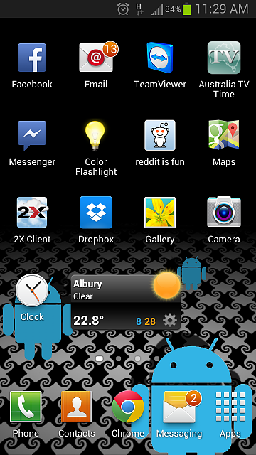 Galaxy S3 Messaging Icon On Home Screen Shows Unread Messages