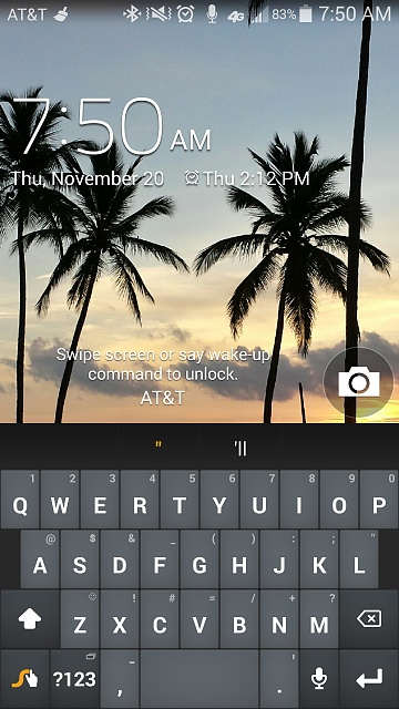 Galaxy S4 Google Edition: Keyboard still on lock screen after texting?-screenshot_2014-11-20-07-50-11.jpg