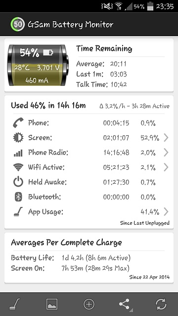 New Here. Galaxy S4 Battery Drain since 4.4.2 Update KitKat GlanceViewMK-2014-04-26-22.36.02.jpg