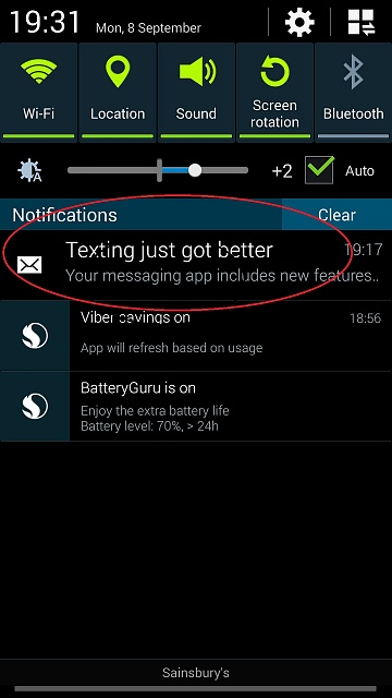 """Texting just got better"" in Notifications every day !-2014-09-08-18.31.39.jpg"
