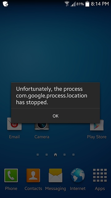 Why am I getting the error message on my Samsung Galaxy S4 Unfortunately, the process com.google.process.location has stopped.?-screenshot_2014-09-27-20-14-41.jpg