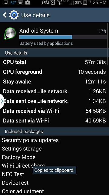 Anyone else with a Verizon S4 notice significant battery drain after the latest update?-screenshot_2014-11-04-19-25-43.jpg