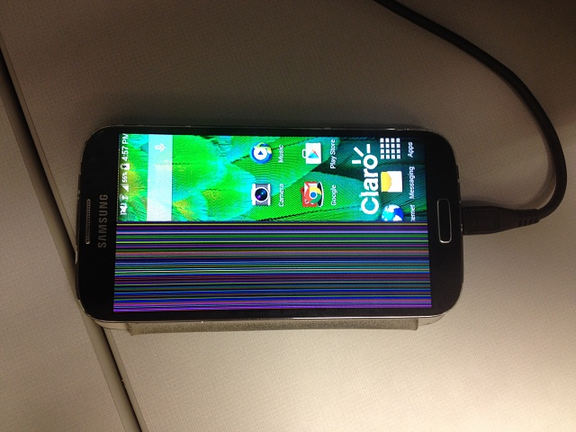 Why Is Half Of My Screen Covered With Colored Lines Android Forums At Androidcentral Com