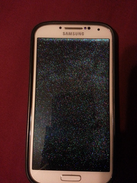 samsung galaxy s4 screen flashing green