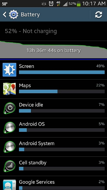 My gs4 battery life 1 cycle in.-uploadfromtaptalk1367158822573.jpg