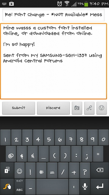 how to change font size of messages in android