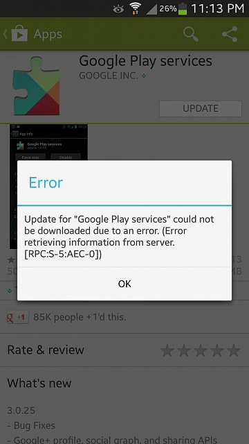 how do i update google play services on my android