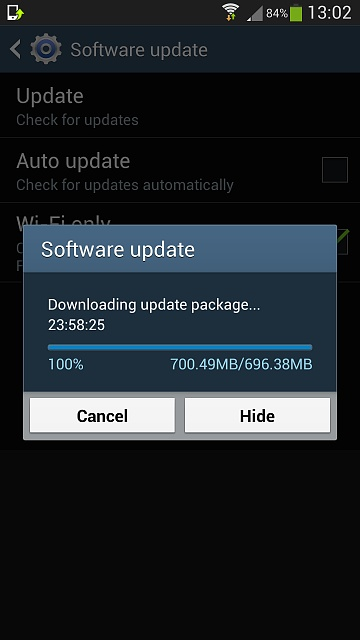 software android downloading update