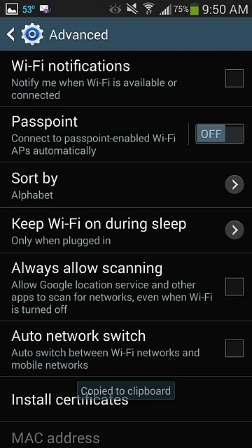 Any Way To Do More Advanced Wifi Settings On Gs4 4 3