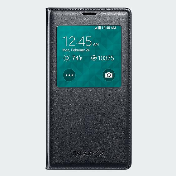 Galaxy S5: Verizon has the Wireless Charging S-View Flip Cover available for purchase online..-samsung-wireless-charging-s-view-flip-cover-galaxy-s-5-black-front-sm-g900vbwldrcov.jpg