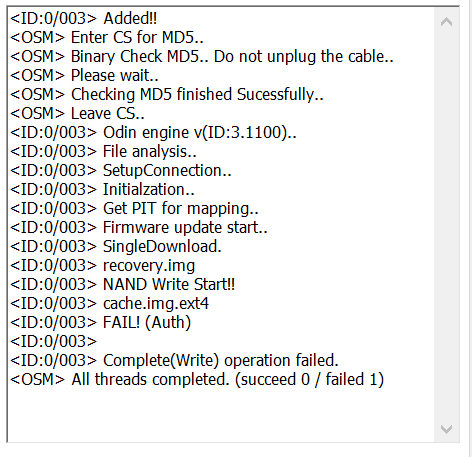 Galaxy S5: Odin failing to root-capture.png