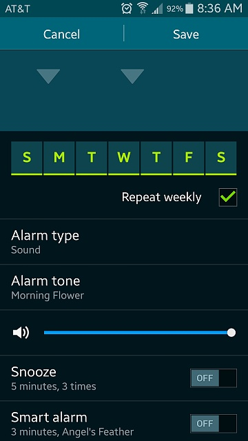 How to change the alarm volume level? - Android Forums at