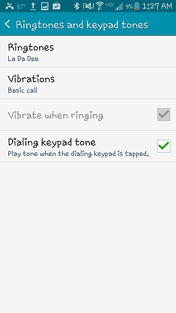 how to turn ringer off and vibrate on android