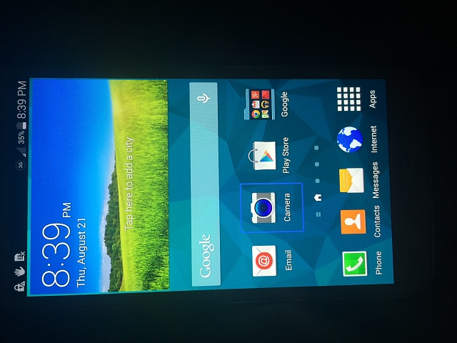 Cannot swipe galaxy s5 screen, blue highlight over everything i touch-1408671717340.jpg