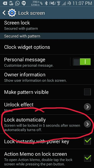 S case doesn't lock the phone right away.-2014-08-31-23-07-51.jpg