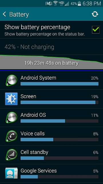 How do I remove battery icon displayed on Upper Left of Samsung S5-screenshot_2014-10-25-18-38-51.jpg
