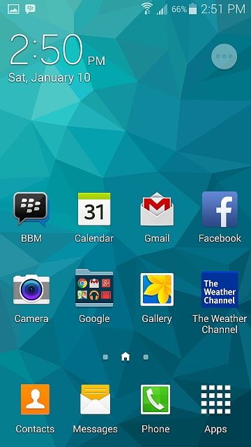 galaxy s5 weather app disappeared