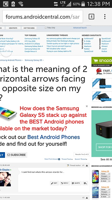 What is the meaning of 2 horizontal arrows facing on