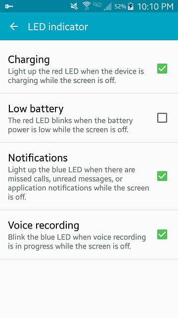 smansung galaxy s5 how to turn on notifcation light