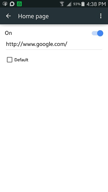 Samsung Galaxy S5 opens web browser to Yahoo even though Google is home page, why does it do this?-1431380494106.jpg