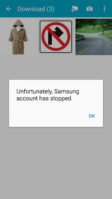 """unfortunately samsung account has stopped"" After opening apps-screenshot_2015-07-08-10-51-56.png"