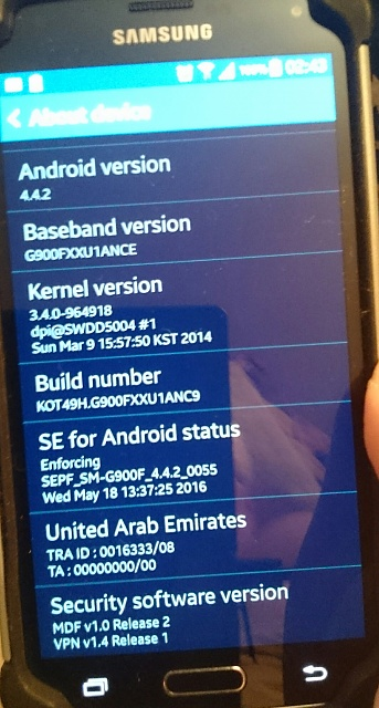 Galaxy S5 (SM-G900F) won't update  Device and software