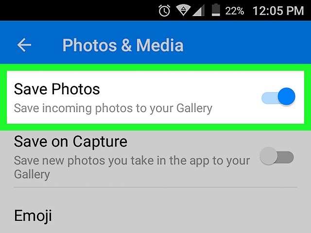Facebook Messenger  Unable to save photos  automatically-save-pictures-facebook-messenger-android-step-9.jpg