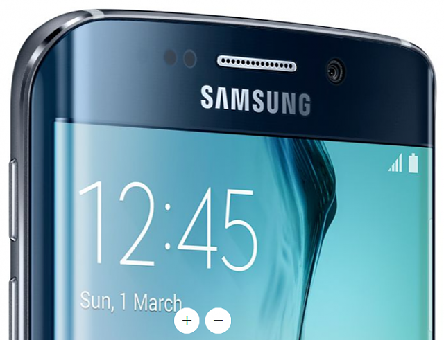 what color is the metal frame on the s6 edge   android