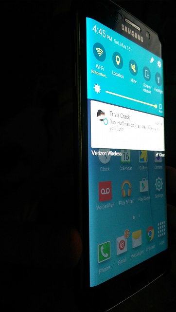 Light Leakage Around Bezel? - Android Forums at