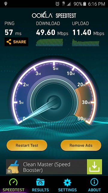 What speeds are you getting on your galaxy s6?-1428276732040.jpg