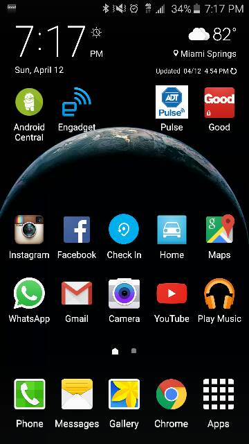 Galaxy s6 post pictures of your home screen s android for Android wallpaper 5 home screens