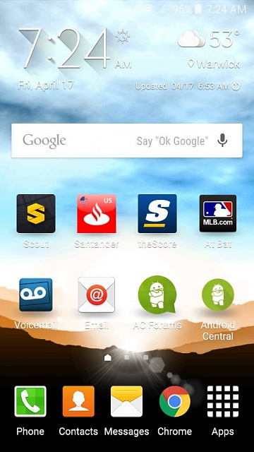 galaxy s6 home screen icons