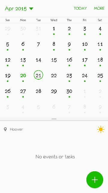 Why does my S6 Edge calendar have green dots to indicate an event instead of the event itself?-3477.jpg