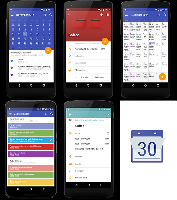 Weekly Calendar App : Biofanatic s weekly app review today calendar android