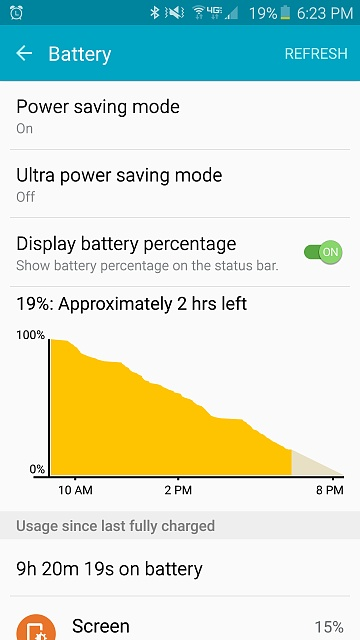 3 days with S6... battery screenshots S4 vs. S6-screenshot_2015-06-13-18-23-35.jpg