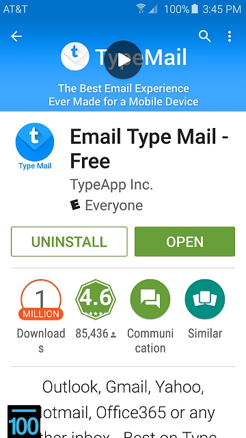 email app does not download