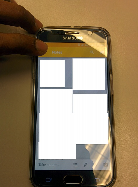 S6 - Touch screen issues only at Top -Left Area - Android