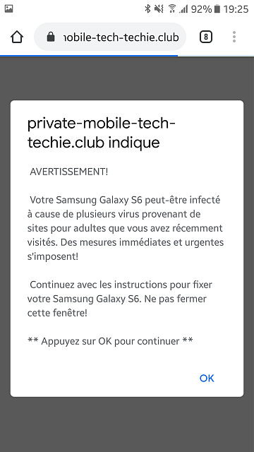 Virus popup scam on my phone when searching for Samsung Galaxy S10 on Google-screenshot_20200924-192506.jpg