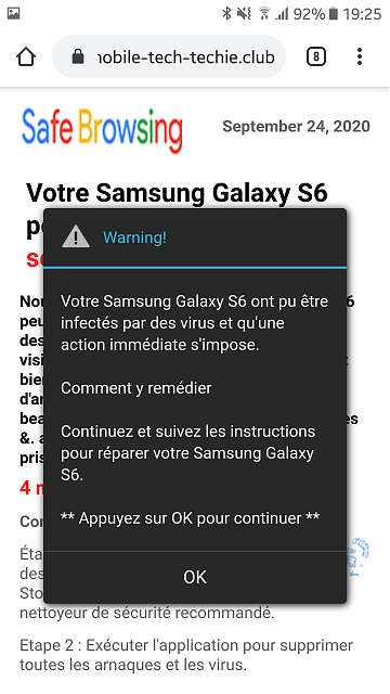 Virus popup scam on my phone when searching for Samsung Galaxy S10 on Google-screenshot_20200924-192517.jpg