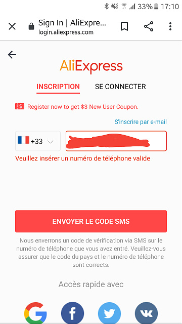 AliExpress cannot recognize the phone number on my phone while i try to signup on this site-20201005_171217.jpg