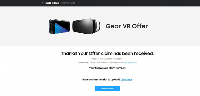 Gear VR Promotion Success/Failure Thread:  please post whether you are successful ...-claimrecieved.jpg