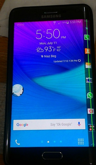Vertical Purple Line on Screen - Page 2 - Android Forums at
