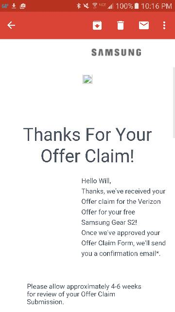 Verizon Gear S2 (When you Receive it or Don't Thread) - Android ...