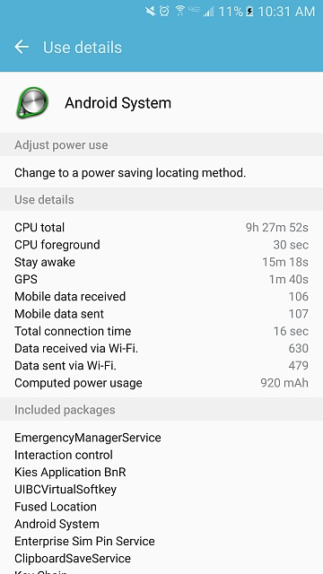 Galaxy s7- sudden  battery drain (Especially when idle)-screenshot_20160707-103135.jpg