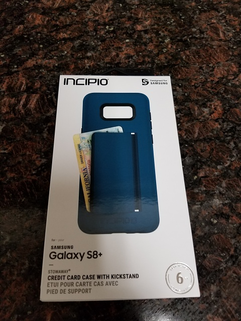 buy online bdb4d dd6b2 Incipio Stowaway Case for the Samsung Galaxy S8+ - Android Forums at ...