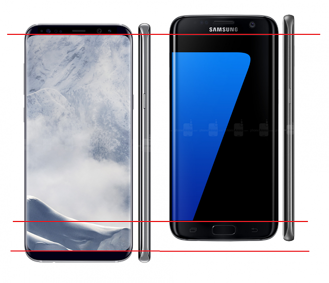 Galaxy S8 Drop Test - Gorilla Glass 5 not too strong.-s7e-vs-s8-plus-screen-size.png