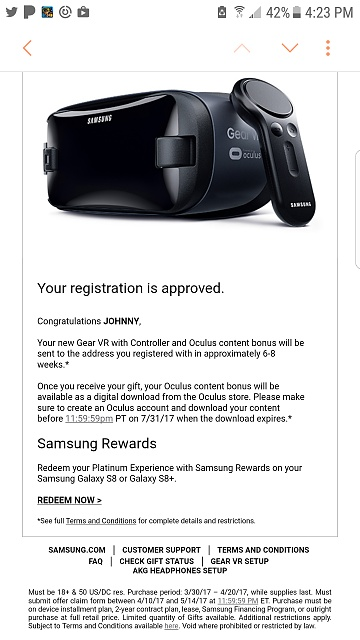 "Registration for ""immersive Gear VR experience for "" - How did it Go-screenshot_20170420-162330.jpg"