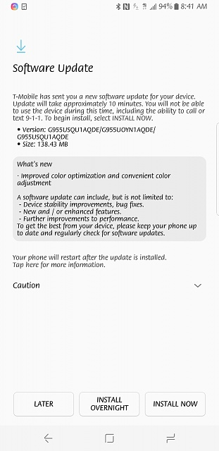 Galaxy S8 red tint fix is now rolling out to T-Mobile customers.-screenshot_20170502-084121.jpg